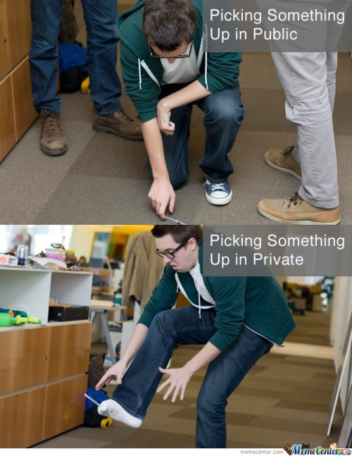 Picking Something In Public & Private