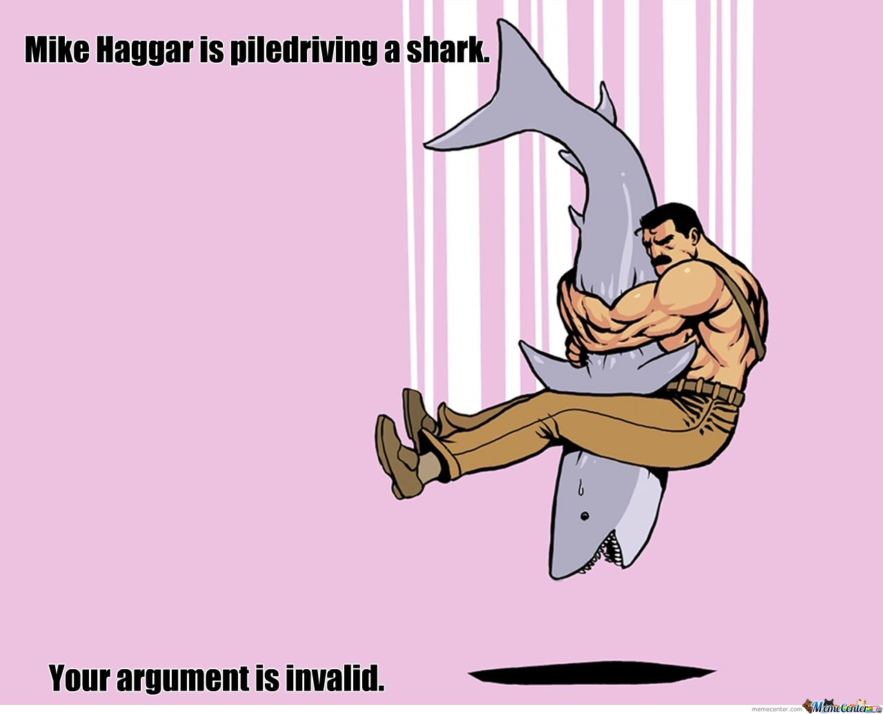 Piledriving a shark