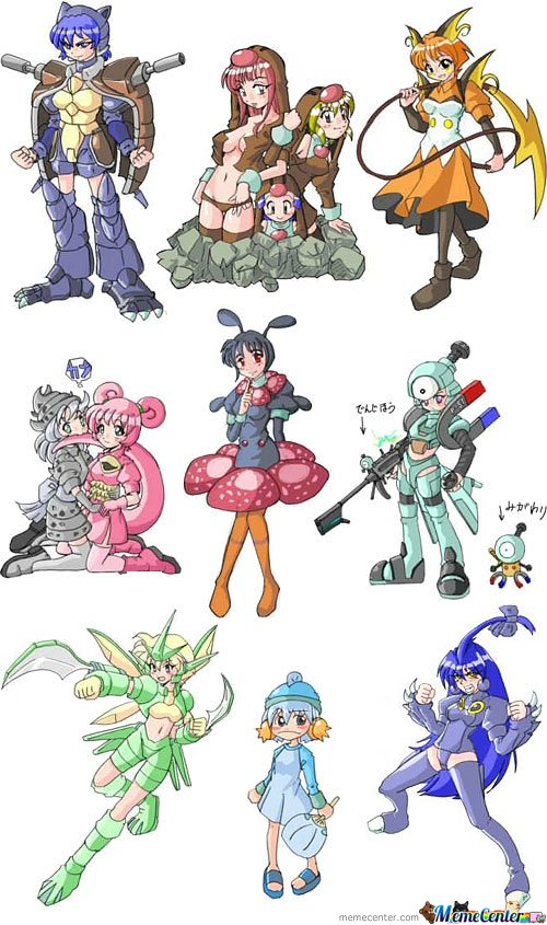 Pokemon Drawn As Anime Girls