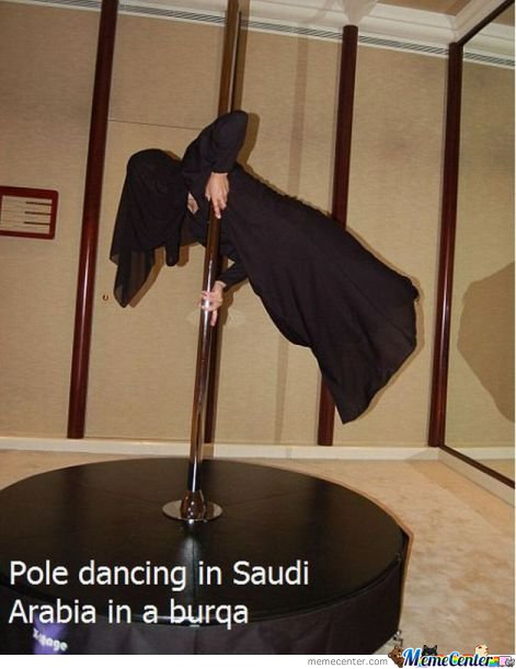 Pole Dancing in Saudi Arabia