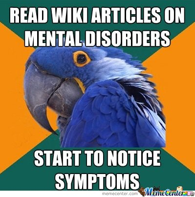 READ WIKI ARTICLES ON MENTAL DISORDERS