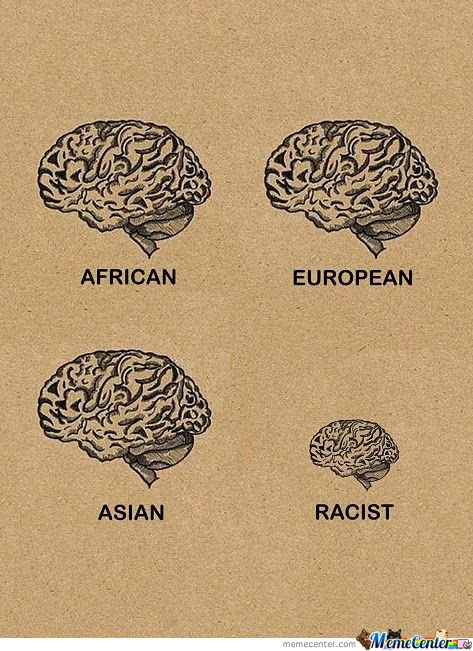 Racism illustrated.