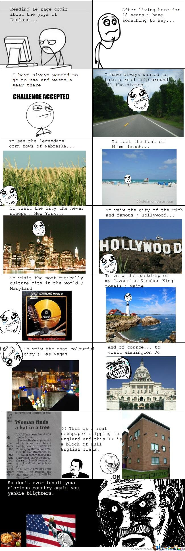 Reading Le Rage Comic About The Joys Of England