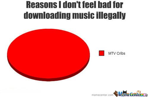 Reasons I don't feel bad for downloading music illegally