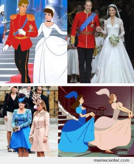 Royal Wedding - Disney Characters