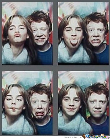Rupert Grint & Emma Watson Taking Dumb Photos