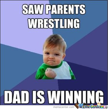 SAW PARENTS WRESTLING