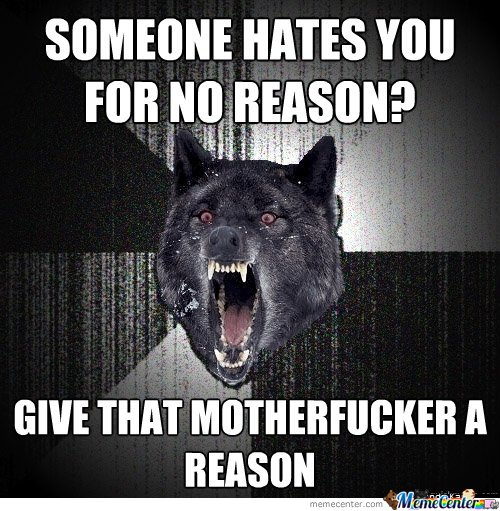 SOMEONE HATES YOU FOR NO REASON