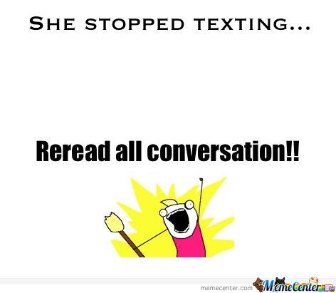 She stopped texting