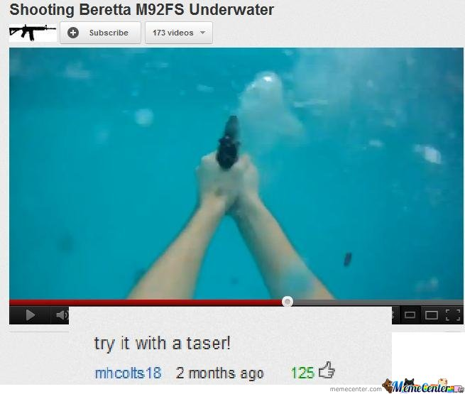 Shooting beretta underwater