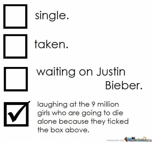 Single - Taken - Waiting On Justin Bieber