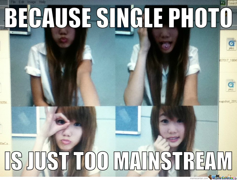 Single photos are just too mainstream
