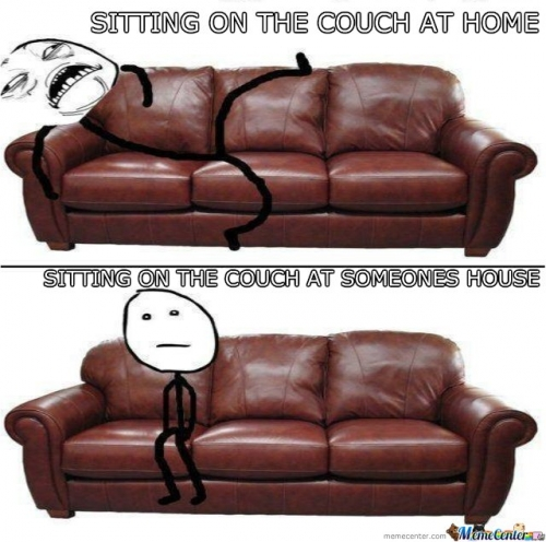 Sitting on the couch