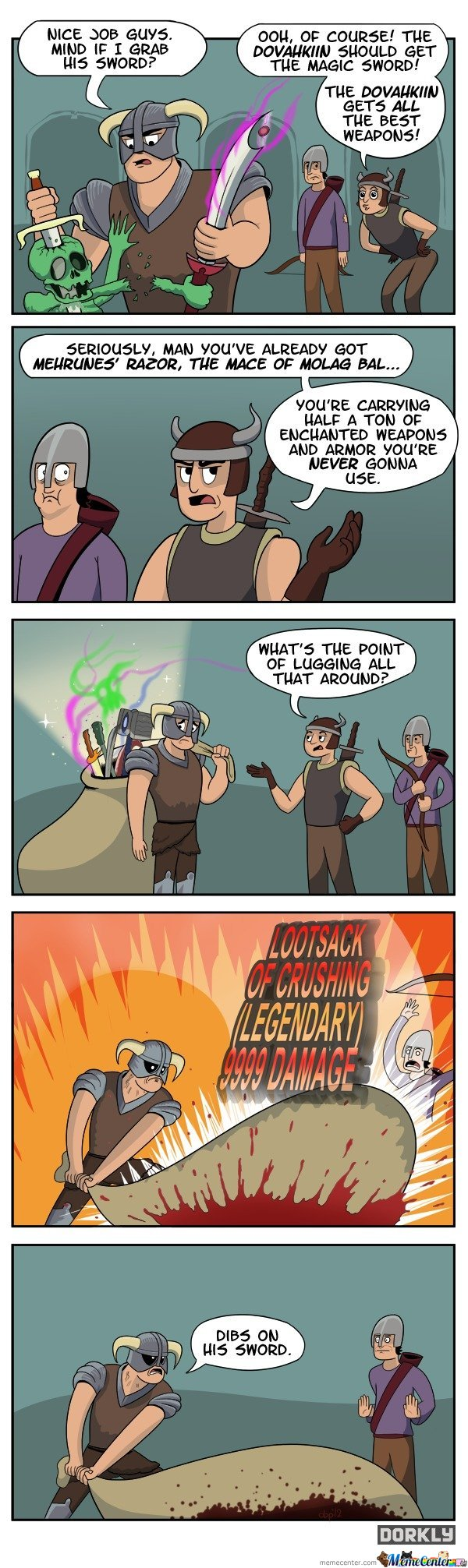 Skyrim Comic - The Dovahkiin gets all the best weapons