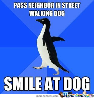 Smile at dog