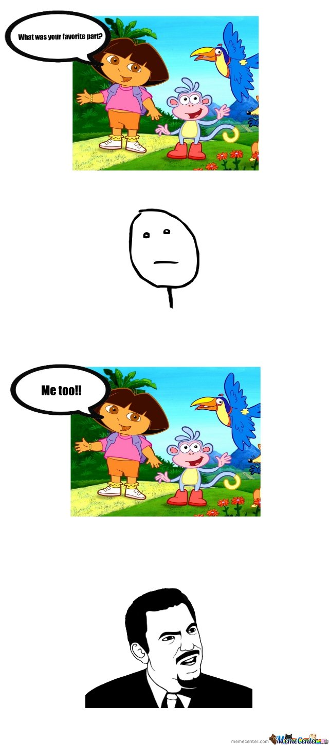 Socially awkward Dora