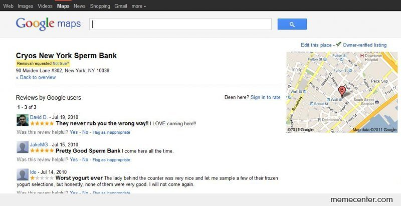 Sperm Bank Google Reviews