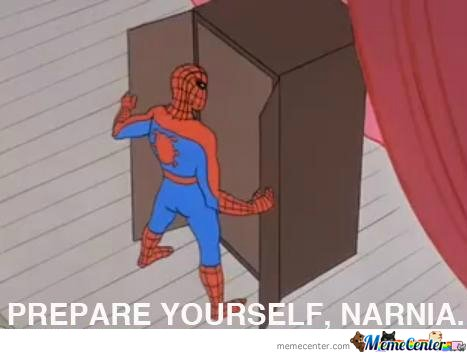 Spiderman going to Narnia