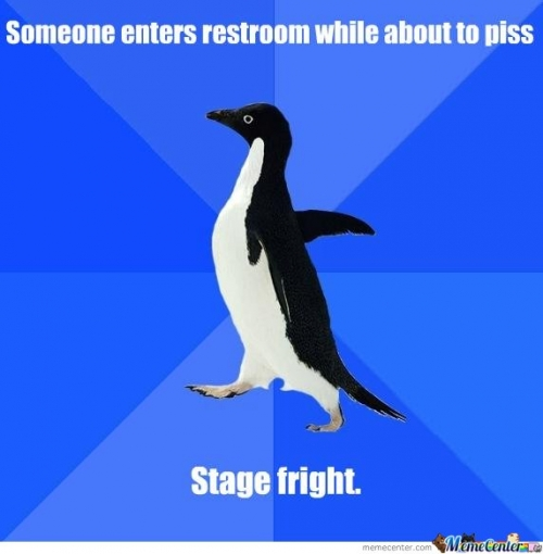 Stage fright...