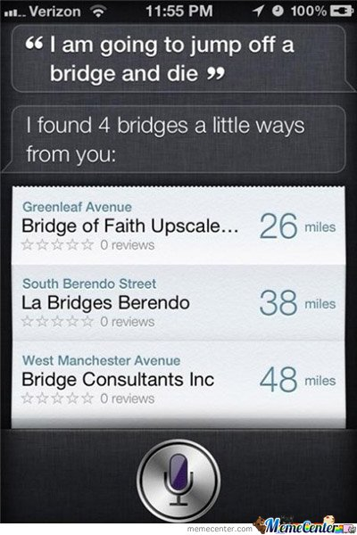 Suicide? Siri can help!