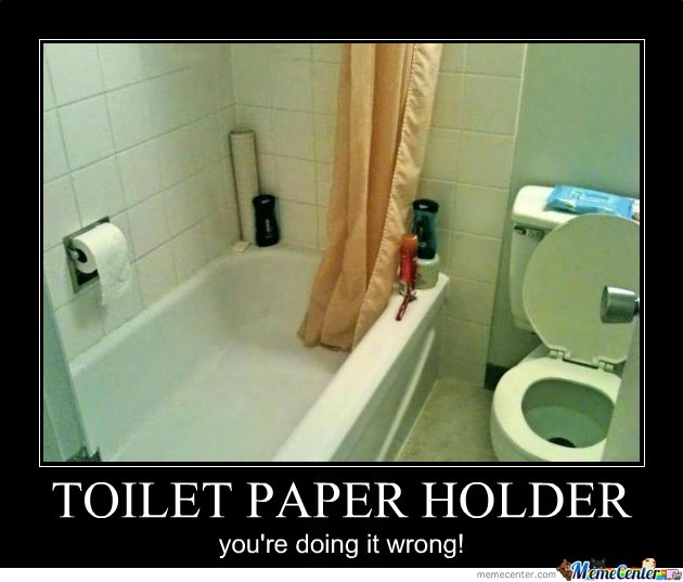 TOILET PAPER HOLDER EPIC FAIL!