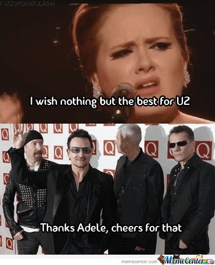 Thanks Adele...