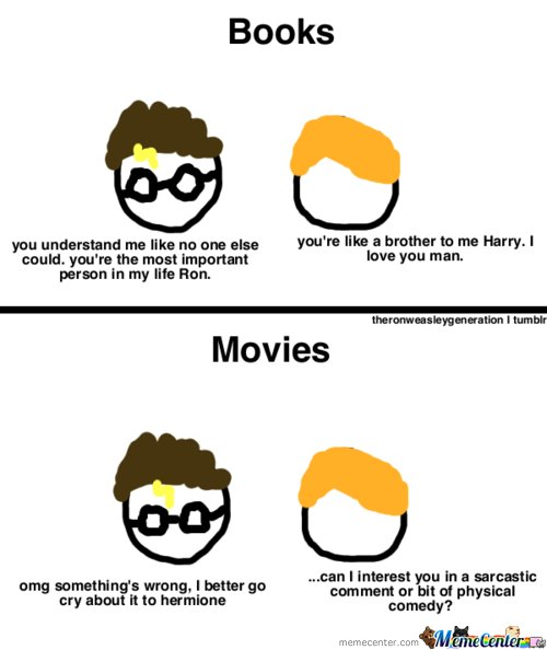 The Difference Between Movies And Books Of Harry Potter