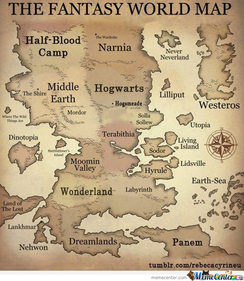 The fantasy world map