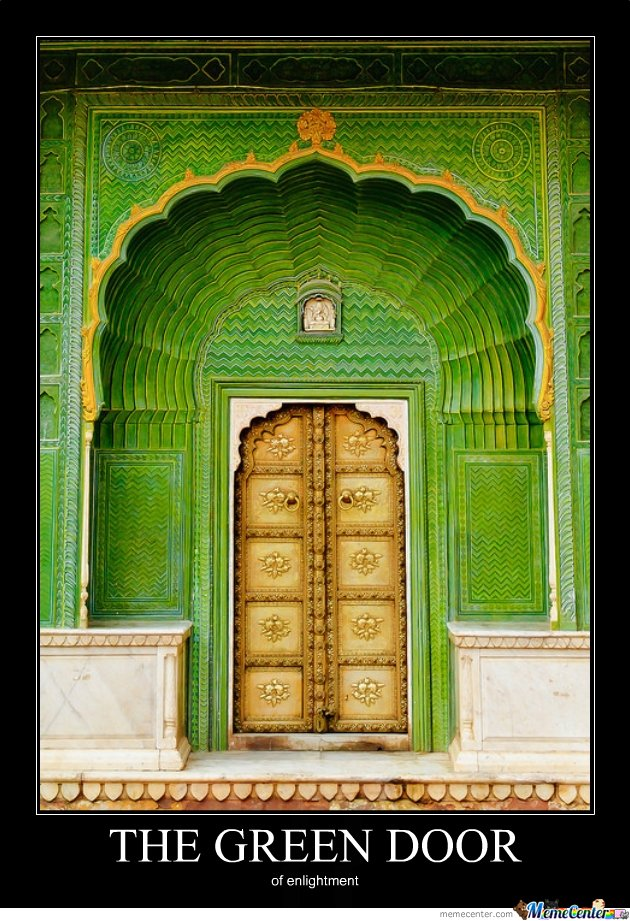 The green door of enlightment