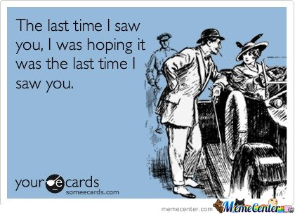 The last time I saw you E-card