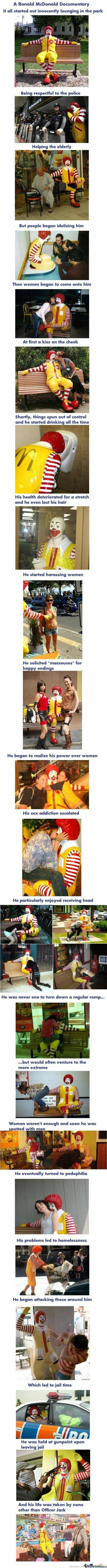 The life of Ronald Macdonalds