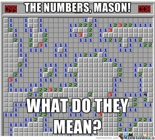 The numbers , Mason!