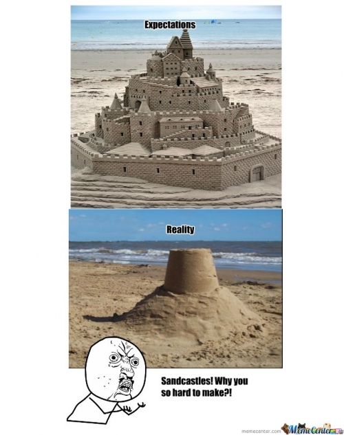 The reality of sandcastles