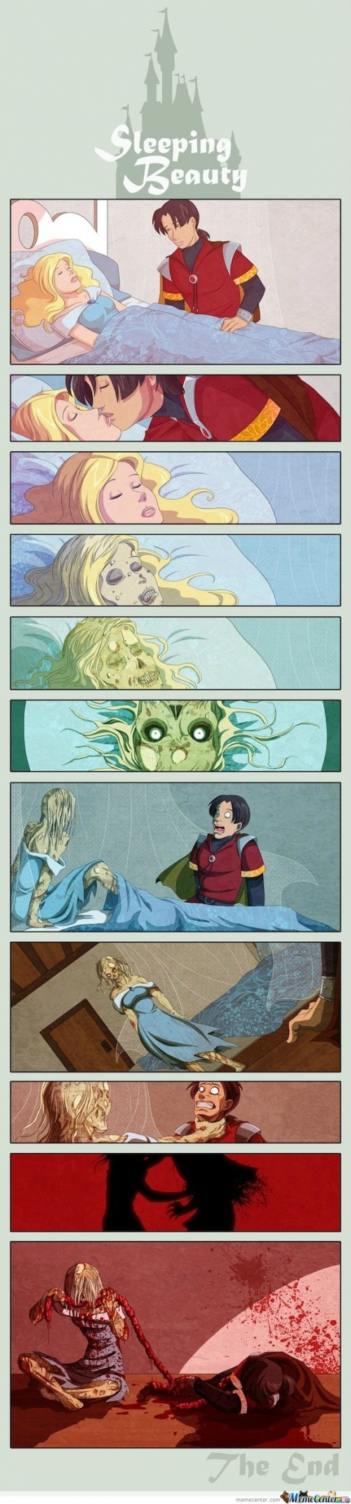 The sleeping beauty  comic