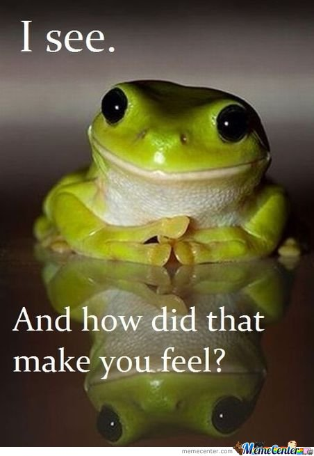 Therapy frog is therapeutic.