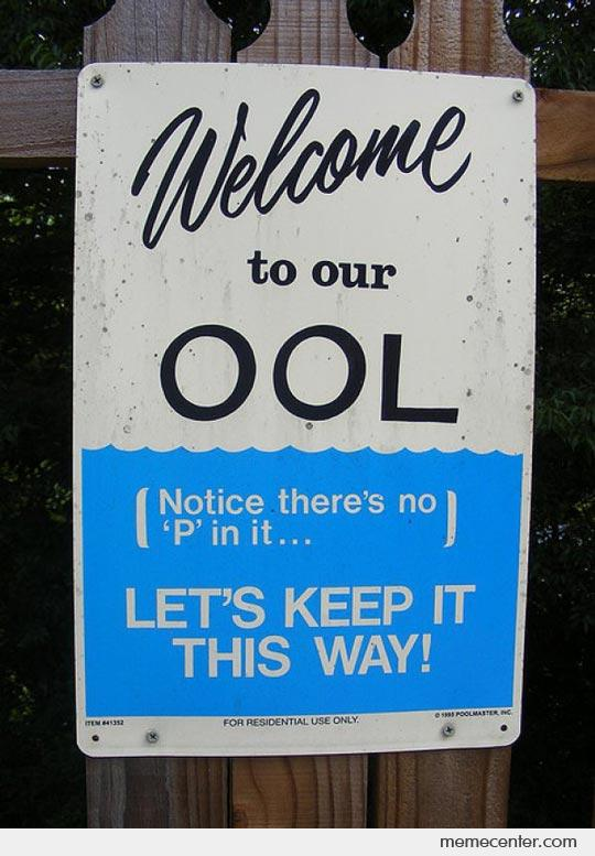 There is no P in our pool