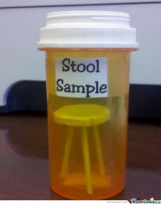 This is what i took to the doctor when he asked me for my stool sample