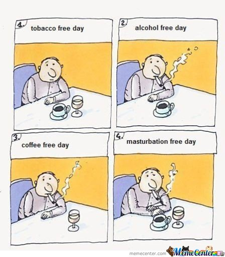 Tobacco-Coffee-Alcohol Free Days