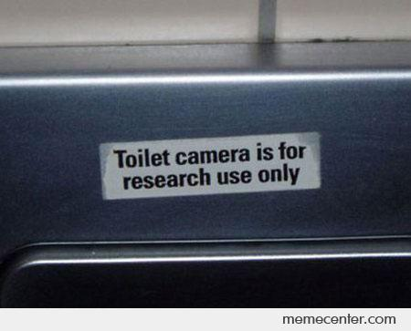 Toilet Camera is for Research Only