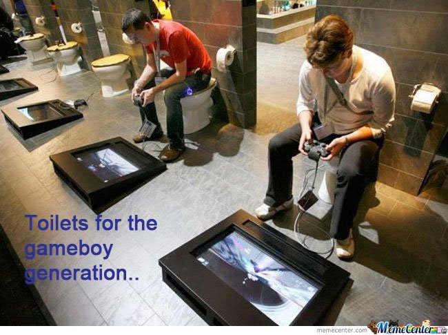 Toilets for the gameboy generation