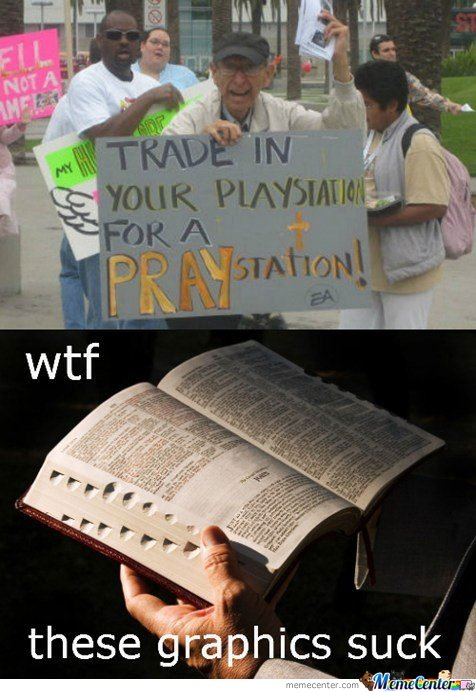 Trade your playstation for a praystation