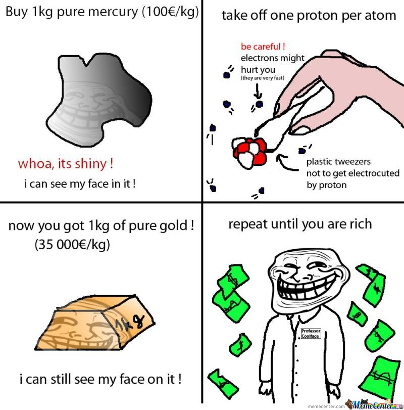 Troll Physics -  How to be rich