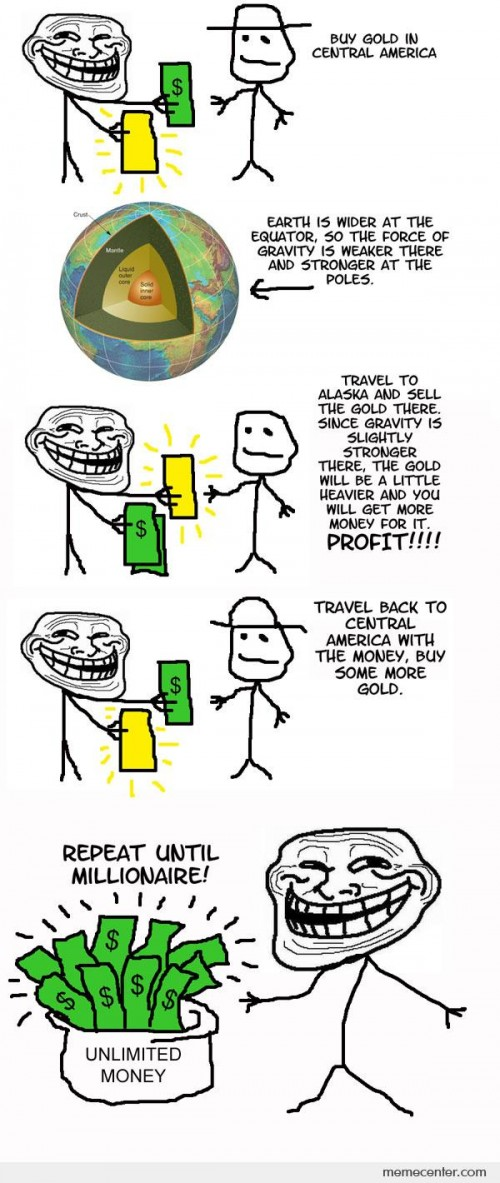 Troll Science: Unlimited Money