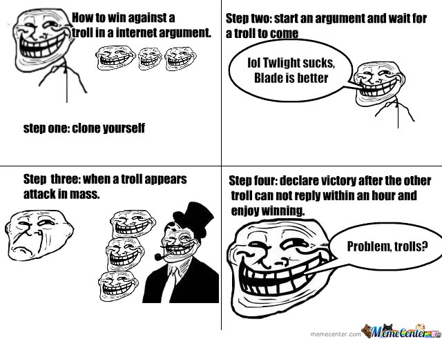 Troll logic, how to win an argument