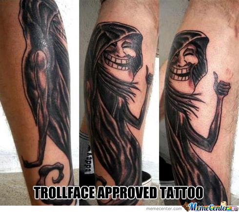 Trollface Tattoo