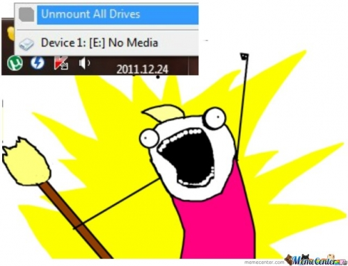 Unmount All Drives!