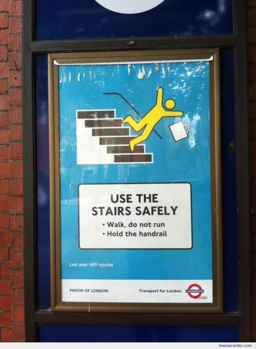 Use stairs safely