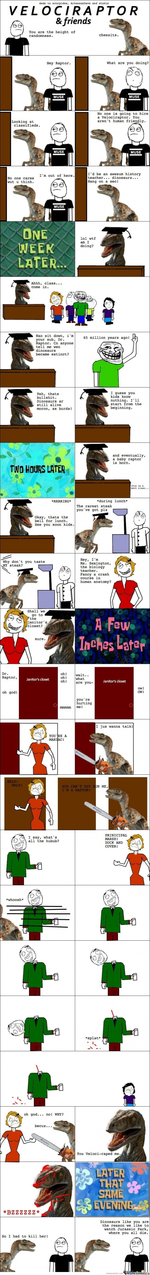 Velociraptor Goes To Psycho