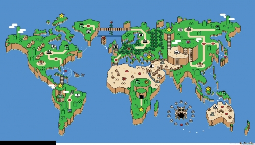 Video Game World Map