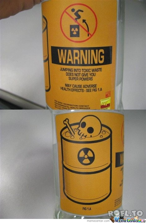 Warning for idiots